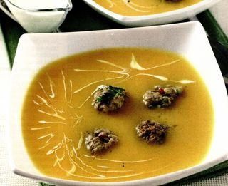 Supa de cartofi cu galuste de ficat