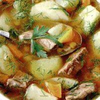 Supa de carne de oaie cu taitei