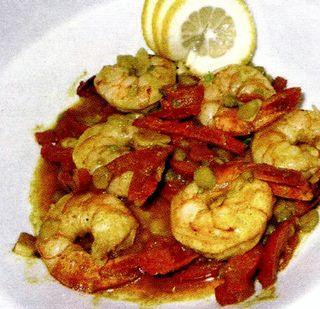 Creveti in sos de curry
