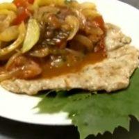 Cotlet de porc cu sos de legume