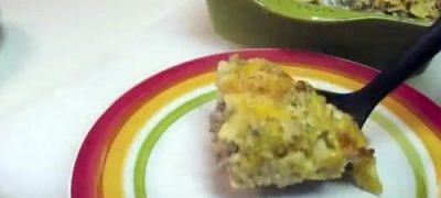 How to Make Cheesy Beef and Alfredo Casserole