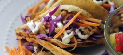 How to Make Grilled Chicken Wonton Tacos