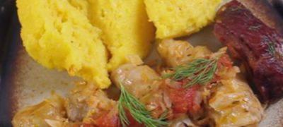 Sarmale de orez cu nuci