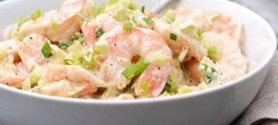Salata aromata cu creveti