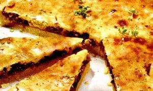 Courgettes chicken tart