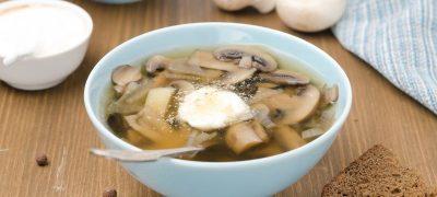 Supa crema de fetica cu ciuperci