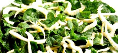 Salata din frunze de papadie cu smantana
