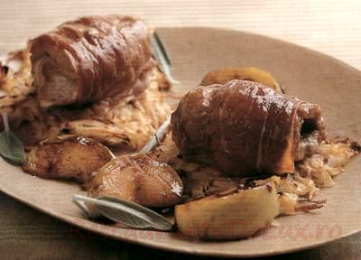 Rulouri de porc cu ardei iute si raita