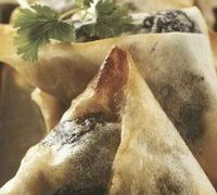 Chicken with prunes parcels