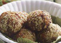 Chicken meatballs with oregano and garlic