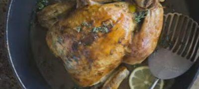 Chicken roast with garlic