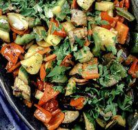 Ghiveci de legume cu bulion si verdeata