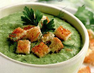 Supa de fasole verde cu sos de ou