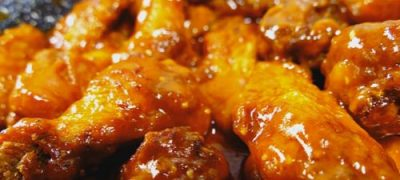 Syrup chicken wings