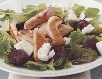 Homemade chicken and salad