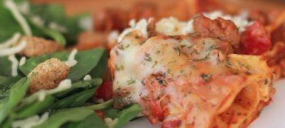 Lasagna cu scoici si rosii