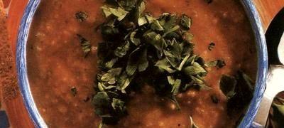 Supa de linte cu bulion de rosii