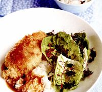 Curry de pui cu orez si salata
