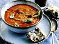 Supă de roşii cu ciuperci