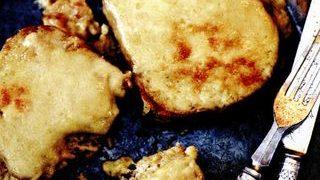 Tartine gratinate cu cascaval