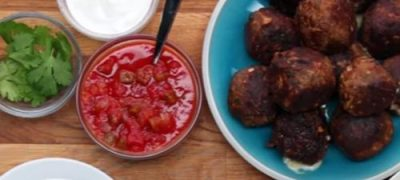 How to Make Stuffed Taco Meatballs