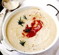 Supa crema de conopida cu telina