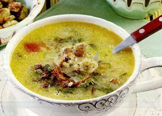 Supa de ciuperci cu galuste de mamaliga