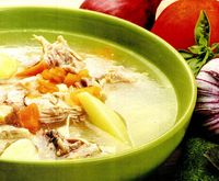 Supă cu carne de pui