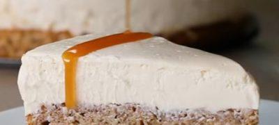 Cheesecake cu migdale