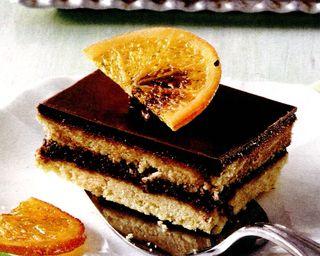 Prajitura de ciocolata cu clementine si rodii in sirop