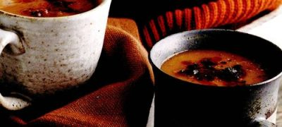 Supa cremoasa din dovleac si chorizo