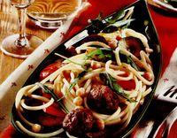 Paste cu carne şi ciuperci