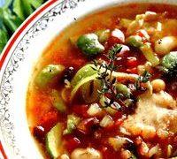 Supa deasa de fasole boabe