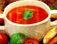 Supa de rosii cu branza tofu iute