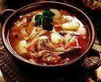 Supă de varză creaţă cu şuncă