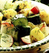 Salata de cartofi si ridichii