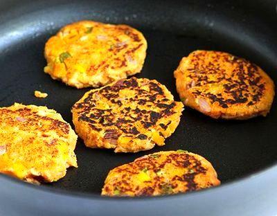 Chiftele de peste cu cartofi dulci