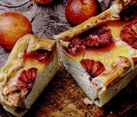 Prăjitură cu brânză şi fructe de pădure