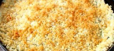 Quinoa cu sos de branza si spanac