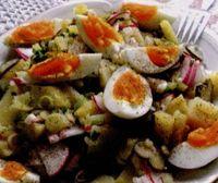 Salata cu oua si carnat