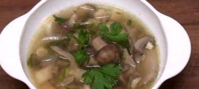 Supa de ciuperci shitake cu taietei si legume