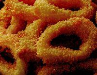 Inele de calamar prajite in ulei