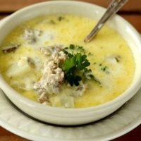 Supa cu legume si carne tocata