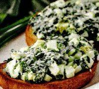 Tartine cu salata de oua