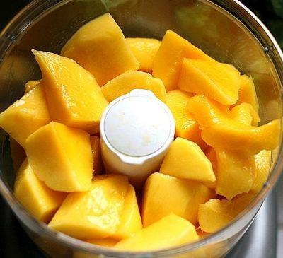 Inghetata de mango cu vanilie