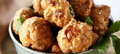 Chiftelute de pui cu sos de curry