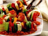 Frigarui de legumecu sos pesto