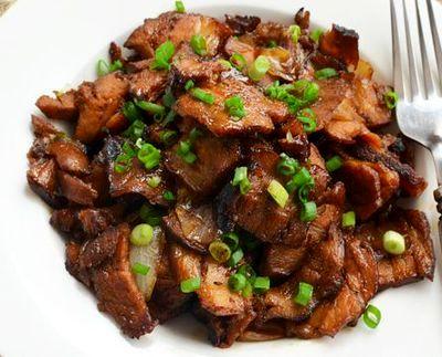 Muschi de porc caramelizat
