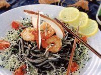 Spaghete negre cu creveti