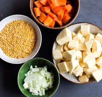 Supă de linte si morcovi, cu smântână